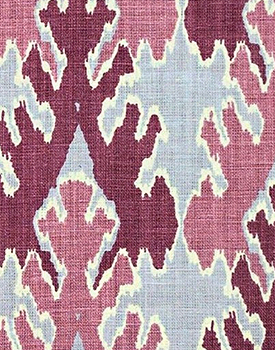 Bengal Bazarr fabric in Magenta by Kravet, part of the designer fabric collection at Delicious Designs Home in Hingham, MA.